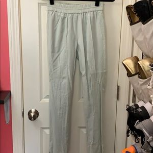 J. Crew Elastic waistband light blue ankle pants